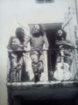 Sur le balcon, votre serviteur au centre, J.J Le Grill à droite, J.J Colin à gauche